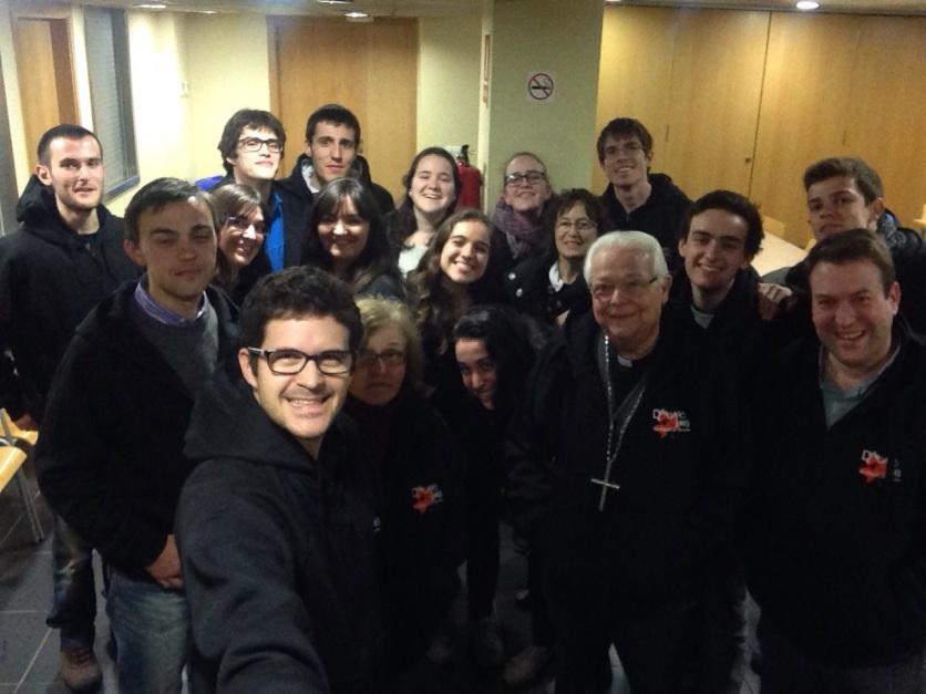 Equip de la Delegació de Joves del Bisbat de Girona